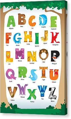 Animal Alphabet Canvas Print by David Corrente