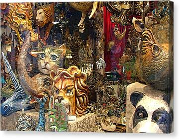 Animal Masks From Venice Canvas Print by Mindy Newman