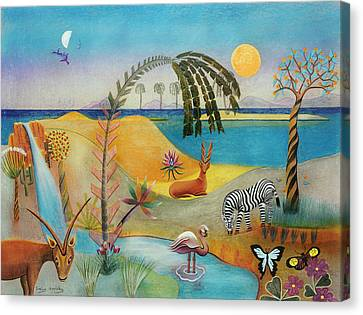 Animal Paradise Canvas Print by Sally Appleby