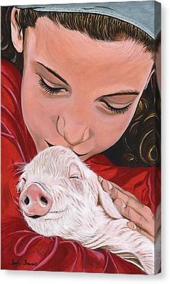 Animal Protector Canvas Print by Twyla Francois