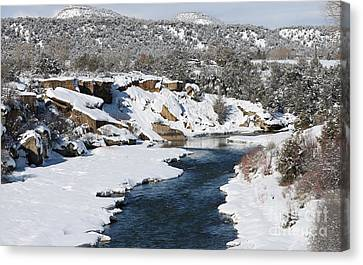 Animas River In January Canvas Print