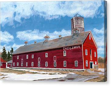 Canvas Print featuring the painting Anken's Barn by Lynne Reichhart