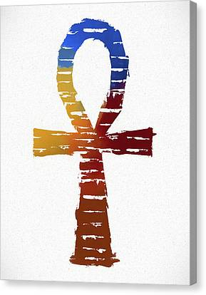 Tomb Canvas Print - Ankh by Dan Sproul