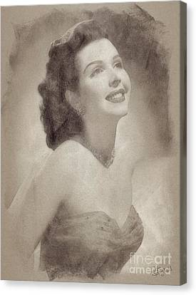 Ann Miller, Vintage Hollywood Actress Canvas Print by John Spirngfield