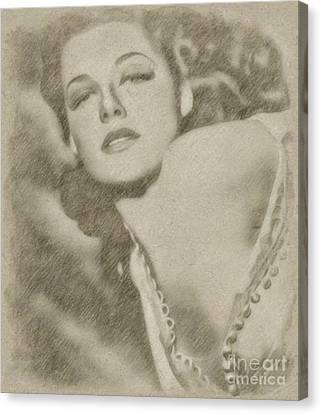 Ann Sheridan Hollywood Actress Canvas Print by Frank Falcon
