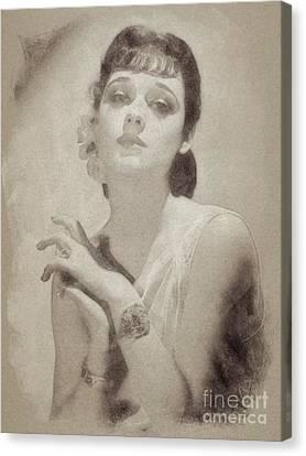 Ann Southern Vintage Actress Canvas Print