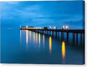 Canvas Print featuring the photograph Anna Maria City Pier by Patrick Downey