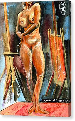 Anna Nude Canvas Print by Ion vincent DAnu