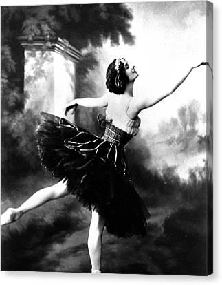 Ballet Dancers Canvas Print - Anna Pavlova by French School