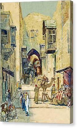 Anna Rychter May An Alley In Jerusalem Canvas Print