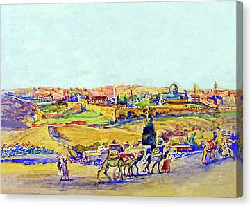 Anna Rychter May Jerusalem Caravan Canvas Print