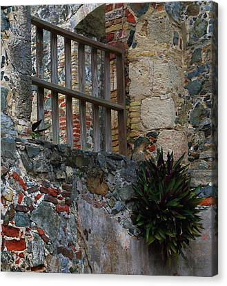 Canvas Print featuring the photograph Annaberg Ruin Brickwork At U.s. Virgin Islands National Park by Jetson Nguyen