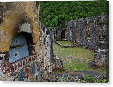 Canvas Print featuring the photograph Annaberg Sugar Mill Ruins At U.s. Virgin Islands National Park by Jetson Nguyen
