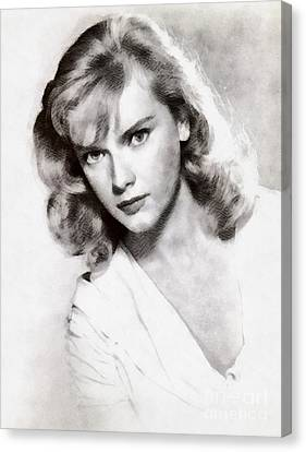 Anne Francis, Vintage Actress Canvas Print by John Springfield
