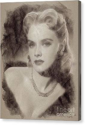 Anne Francis, Vintage Hollywood Actress Canvas Print by John Spirngfield