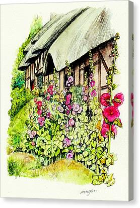 Shakespear Canvas Print - Anne Hathaway Cottage by Morgan Fitzsimons