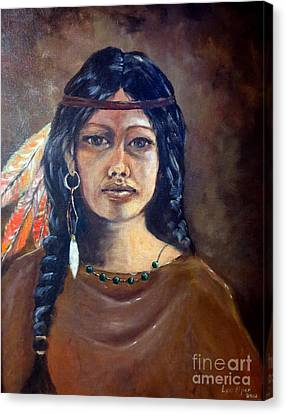 Anne Wolfe Canvas Print by Lee Piper