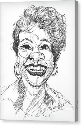 Annette Caricature Canvas Print
