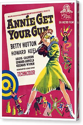 Annie Get Your Gun, Betty Hutton, 1950 Canvas Print by Everett