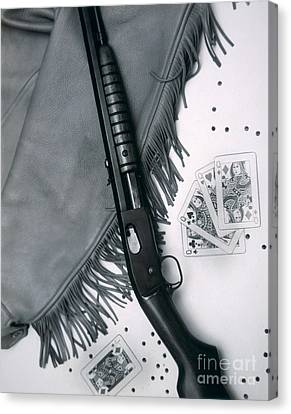 Remington Canvas Print - Annie Oakley's Remington Rifle by American School