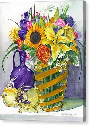 Anniversary Bouquet Canvas Print by Jane Loveall