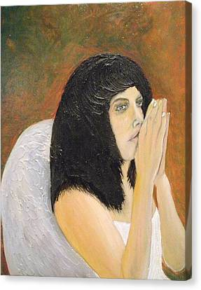 Annolita Praying Canvas Print by J Bauer
