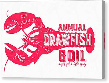 Annual Crawfish Boil Poster Canvas Print by Edward Fielding