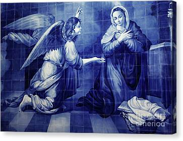 Annunciation Canvas Print by Gaspar Avila