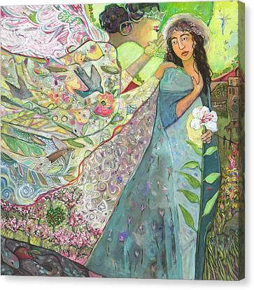 Annunciation Canvas Print by Jen Norton