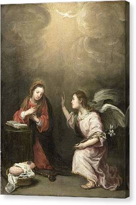 Annunciation To The Virgin Canvas Print