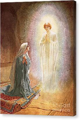 Gabriel Canvas Print - Annunciation by William Brassey Hole