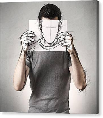 Anonymous Sketch Canvas Print by Sebastien Del Grosso