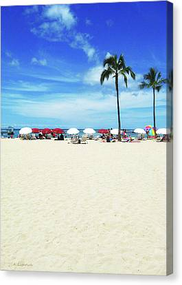 Another Beautiful Day In Waikiki Canvas Print by Kerri Ligatich