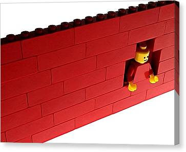 Canvas Print featuring the photograph Another Brick In The Wall by Mark Fuller
