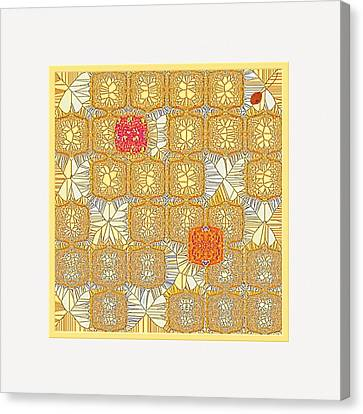 Another Collection Of Similar Things Canvas Print by Mathilde Vhargon