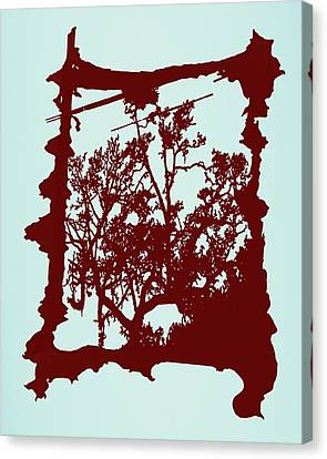 Another Creepy Tree Canvas Print by Kristin Sharpe