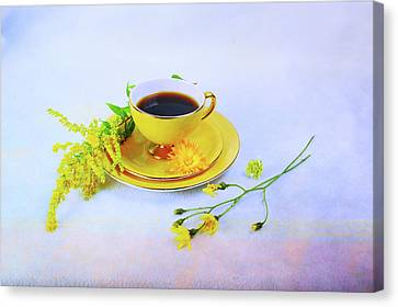 Another Cup Of Coffee Canvas Print by Randi Grace Nilsberg