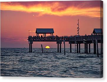 Another Day In Paradise On Clearwater Beach Canvas Print by Bill Cannon