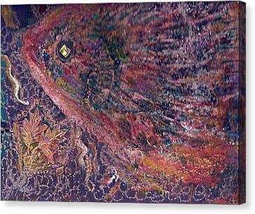Another Look At Fish Of Many Colors  Canvas Print by Anne-Elizabeth Whiteway