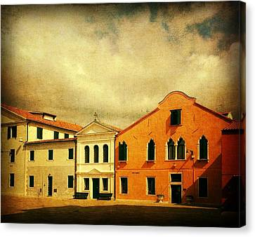 Canvas Print featuring the photograph Another Malamocco Day by Anne Kotan