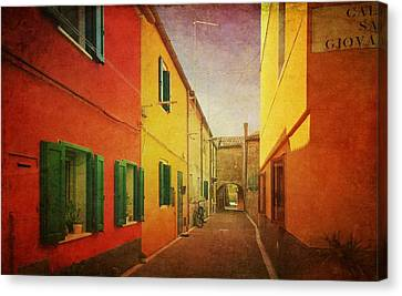 Canvas Print featuring the photograph Another Morning In Malamocco by Anne Kotan