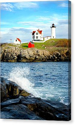 Nubble Lighthouse Canvas Print - Another Nubble by Greg Fortier