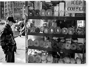 Nyc Canvas Print - Another  Nyc  Breakfast by Dave Beckerman