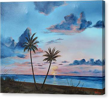 Another Paradise Sunset Canvas Print