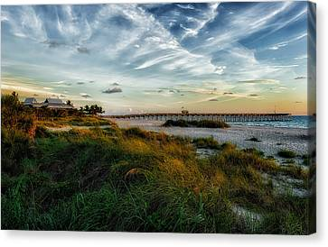 Southwest Florida Sunset Canvas Print - Another Perfect Day Comes To A Close by Frank J Benz