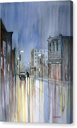 Another Rainy Night Canvas Print by Ryan Radke