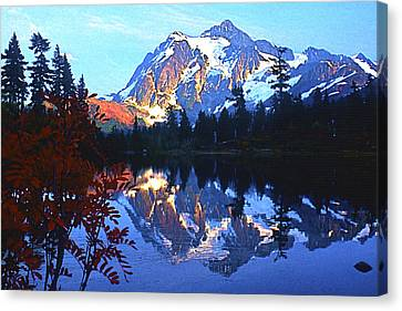 Another Shuksan Reflection Canvas Print by Todd Kreuter