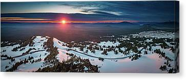 Canvas Print featuring the photograph Another Sunset At Crater Lake by William Lee
