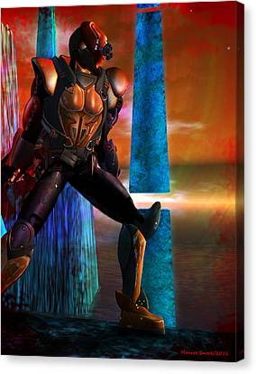 Another Super Hero Canvas Print by Monroe Snook