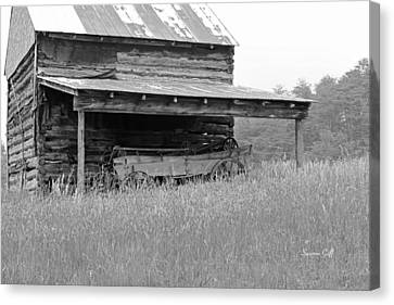 Another Time -- Black And White Canvas Print by Suzanne Gaff
